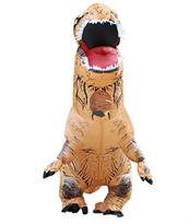 Коричневый надувной костюм динозавра Тирекса (T-Rex) взрослый купить в России с доставкой