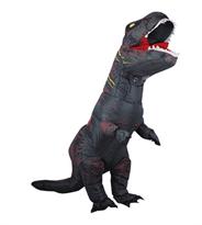 Черный надувной костюм динозавра Тирекса (T-Rex) купить в России