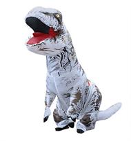 Белый надувной костюм динозавра Тирекса (T-Rex) взрослый купить в России с доставкой