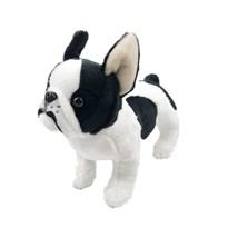 Мягкая игрушка Французский бульдог (черно-белый)