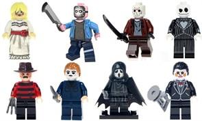 Набор из 8 фигурок совместимых с Лего Персонажи Хоррор фильмов купить