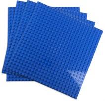4 синие строительные пластины совместимые с лего 38,5 x 38,5 см купить