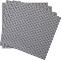 4 серые строительные пластины совместимые с лего 25,5 x 25,5 см купить