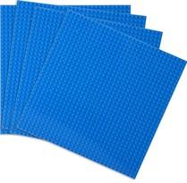 4 синие строительные пластины совместимые с лего 25,5 x 25,5 см купить