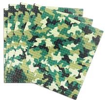 Набор из 4 строительных пластин совместимых лего камуфляжного цвета 25,5 x 25,5 см купить