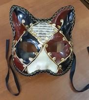 Венецианская маска с кошачьми ушками Ноты купить