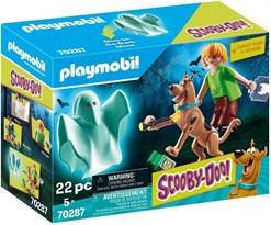 Конструктор Скуби Ду и Шэгги тайна призрака (Playmobil Scooby-DOO! Scooby and Shaggy with Ghost) 22 детали купить в России с доставкой