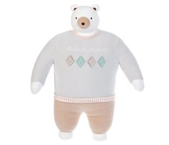 Мягкая игрушка медведь в бежевом свитере купить в Москве