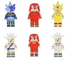 Купить Набор из 6 фигурок совместимых с лего Супер Соник (Sonic)