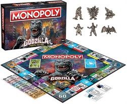 Монополия Годзилла (Collectible Monopoly Godzilla Classic Monster Movie Iconic Kaiju) купить оригинал