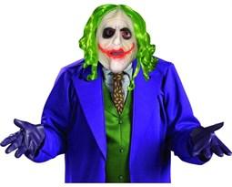 """Маска Джокера """"Темный рыцарь"""" (Adult Joker 3/4 Mask with Hair) для взрослого купить в Москве"""