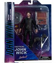 Подвижная фигурка Джон Уик (John Wick 2 Tactical Diamond Select) с собакой 18 см