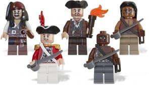Лего Пираты Карибского моря - Минифигуры Пираты (Коллекционные) 30 деталей
