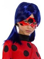 Синий парик Леди Баг детский (Lady Bug) купить в Москве