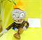 Мягкая игрушка Зомби в коричневом пиджаке из Зомби против Растений - фото 56275