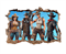 Интерьерная наклейка персонажи Фортнайт (Fortnite) купить в Москве